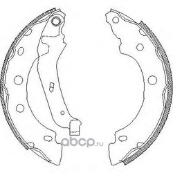 Комплект тормозных колодок (Remsa) 404300