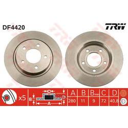Тормозной диск (TRW/Lucas) DF4420