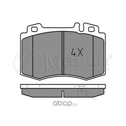 Комплект тормозных колодок, дисковый тормоз (Meyle) 0252374517