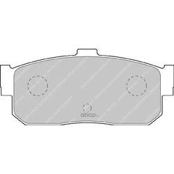 Комплект тормозных колодок, дисковый тормоз (Ferodo) FDB796