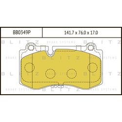Колодки тормозные дисковые (Blitz) BB0349P