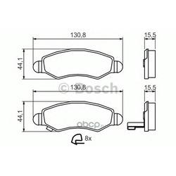 Комплект тормозных колодок, дисковый тормоз (Bosch) 0986494458