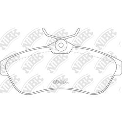 Колодки тормозные дисковые (NiBK) PN0206