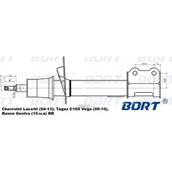 Стойка амортизационная газомасляная задняя правая (BORT) G22250094R