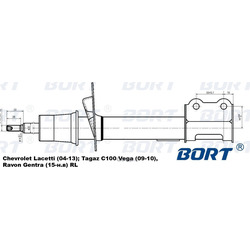 Стойка амортизационная газомасляная задняя левая (BORT) G22250094L