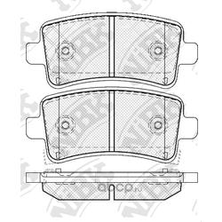 Колодки тормозные дисковые (NiBK) PN0840