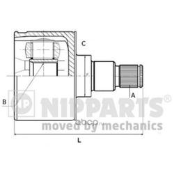 Шарнирный комплект (Nipparts) N2830504