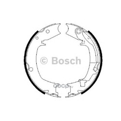 Комплект тормозных колодок (Bosch) 0986487711