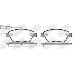 Колодки тормозные дисковые с датчиком износа (NiBK) PN0211W