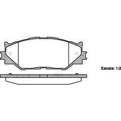 Комплект тормозных колодок, дисковый тормоз (Remsa) 120100