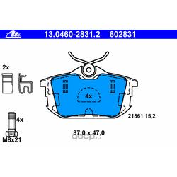 Колодки тормозные дисковые, комплект (Ate) 13046028312