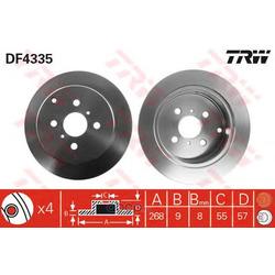 Диск тормозной (TRW/Lucas) DF4335
