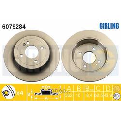 Тормозной диск (Girling) 6079284