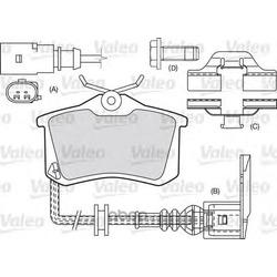 Комплект тормозных колодок, дисковый тормоз (Valeo) 598463