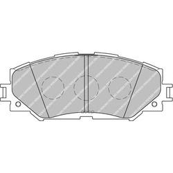 Комплект тормозных колодок, дисковый тормоз (Ferodo) FDB1891