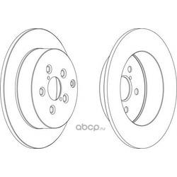 Тормозной диск (Ferodo) DDF1406