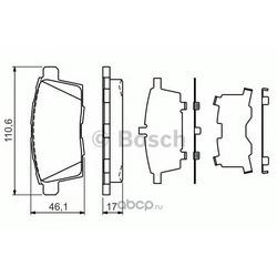 Комплект тормозных колодок, дисковый тормоз (Bosch) 0986494376