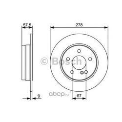 Тормозной диск (Bosch) 0986479409