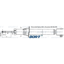 Стойка амортизационная газомасляная задняя правая (BORT) G41245012R