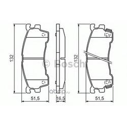 Комплект тормозных колодок, дисковый тормоз (Bosch) 0986460975