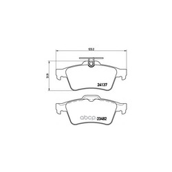 Колодки тормозные дисковые задние, комплект (Brembo) P59042