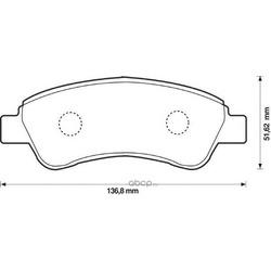 Комплект тормозных колодок, дисковый тормоз (Jurid) 573030J