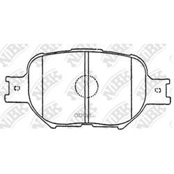 Колодки тормозные дисковые (NiBK) PN1430