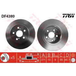 Тормозной диск (TRW/Lucas) DF4380