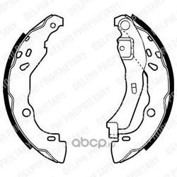 Комплект тормозных колодок (Delphi) LS1929