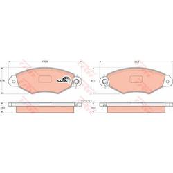 """Колодки тормозные дисковые, комплект """"COTEC (TRW/Lucas) GDB1321"""