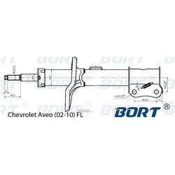 Стойка амортизационная газомасляная передняя левая (BORT) G22045132L