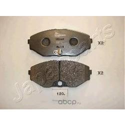 Комплект тормозных колодок, дисковый тормоз (Japanparts) PA120AF