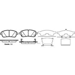Комплект тормозных колодок, дисковый тормоз (Remsa) 128102