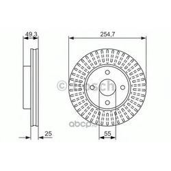 ДИСК ТОРМОЗНОЙ (Bosch) 0986479935