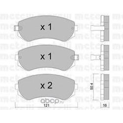Комплект тормозных колодок, дисковый тормоз (Metelli) 2203040