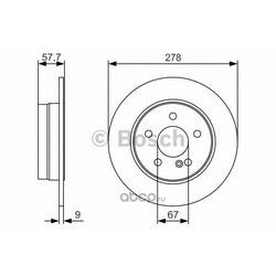 Тормозной диск (Bosch) 0986479S96