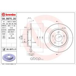 Тормозной диск (Brembo) 08997521