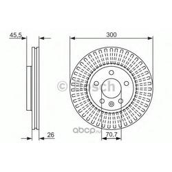Диск тормозной вентилируемый (Bosch) 0986479644