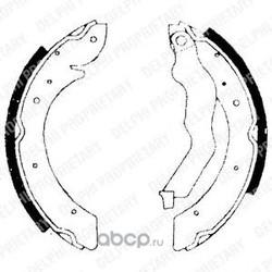 Колодки тормозные барабанные (Delphi) LS1714