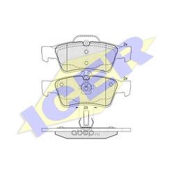 Комплект тормозных колодок, дисковый тормоз (Icer) 181576