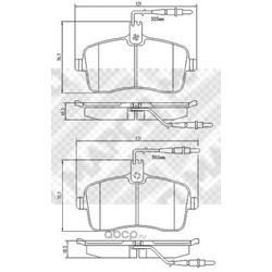 Комплект тормозных колодок, дисковый тормоз (Mapco) 6757