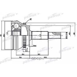 ШРУС наружный с кольцом ABS 26x63.1x27 ABS:48T TOYOTA CAMRY ACV40/GSV40 06- (PATRON) PCV1559
