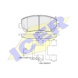 Комплект тормозных колодок, дисковый тормоз (Icer) 182055
