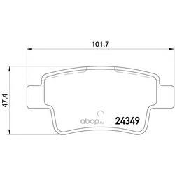 Колодки тормозные дисковые TEXTAR (Textar) 2434901