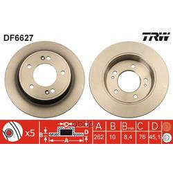 Тормозной диск (TRW/Lucas) DF6627