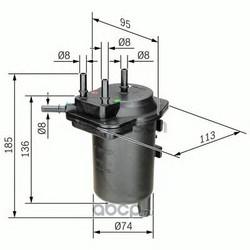 Топливный фильтр (Bosch) 0450907013