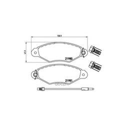 Комплект тормозных колодок, дисковый тормоз (Brembo) P56038