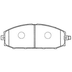Колодки тормозные дисковые (FIT) FP2117