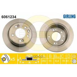 Тормозной диск (Girling) 6061234