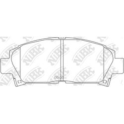 Колодки тормозные дисковые (NiBK) PN1362